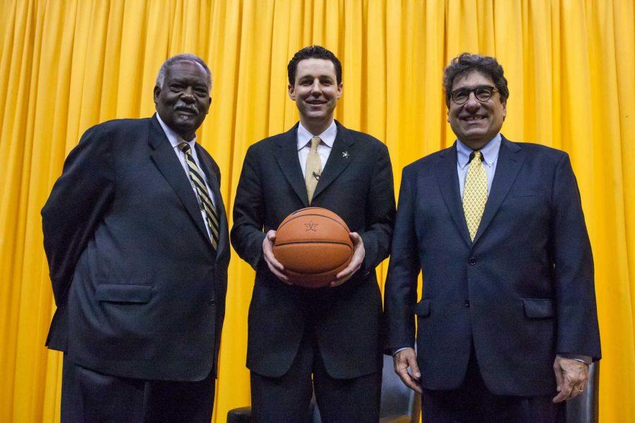 Bryce Drew is introduced as Vanderbilt Men's Basketball Head Coach April 6. 2016