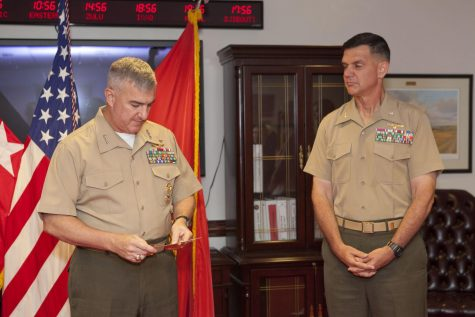 The Hustler chats with General Glenn Walters, second ranking officer in Marine Corps