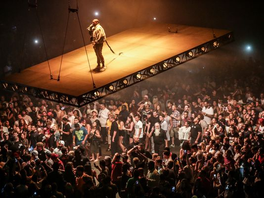 Kanye West performs during the Kanye West: The Saint Pablo Tour at Philips Arena on Monday, September 12, 2016, in Atlanta. (Photo by Robb Cohen/Invision/AP) (Photo: Robb Cohen, Robb Cohen/Invision/AP)