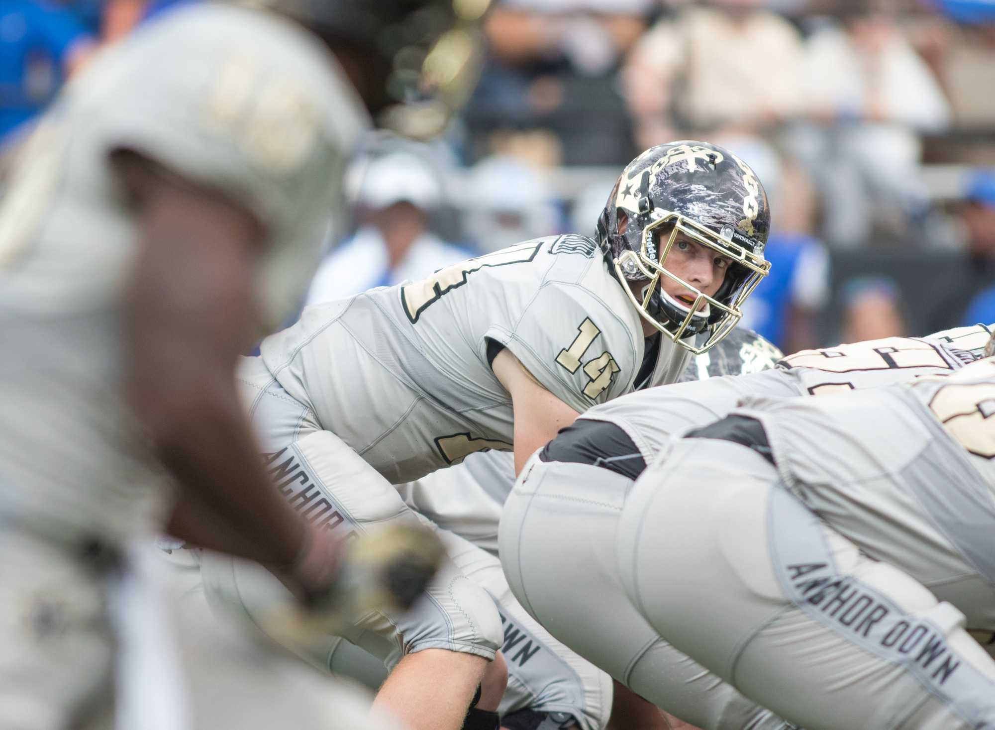 as Vanderbilt defeated the MTSU Blue Raiders 47-24 at Vanderbilt Stadium September 10, 2016.