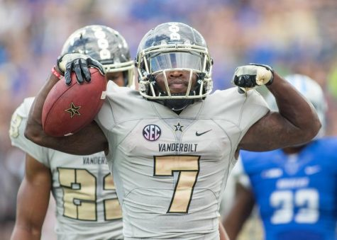 Ralph Webb as Vanderbilt defeated the MTSU Blue Raiders 47-24 at Vanderbilt Stadium September 10, 2016.