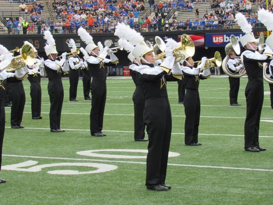Marching band member positions for sexual health