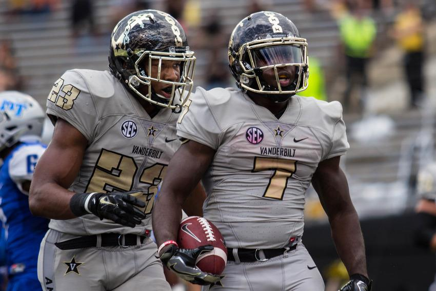 Running+backs+Ralph+Webb+%287%29+and+Khari+Blasingame+%2823%29+as+Vanderbilt+defeated+Middle+Tennessee+State+47-24+at+Vanderbilt+Stadium%2C+September+10%2C+2016.