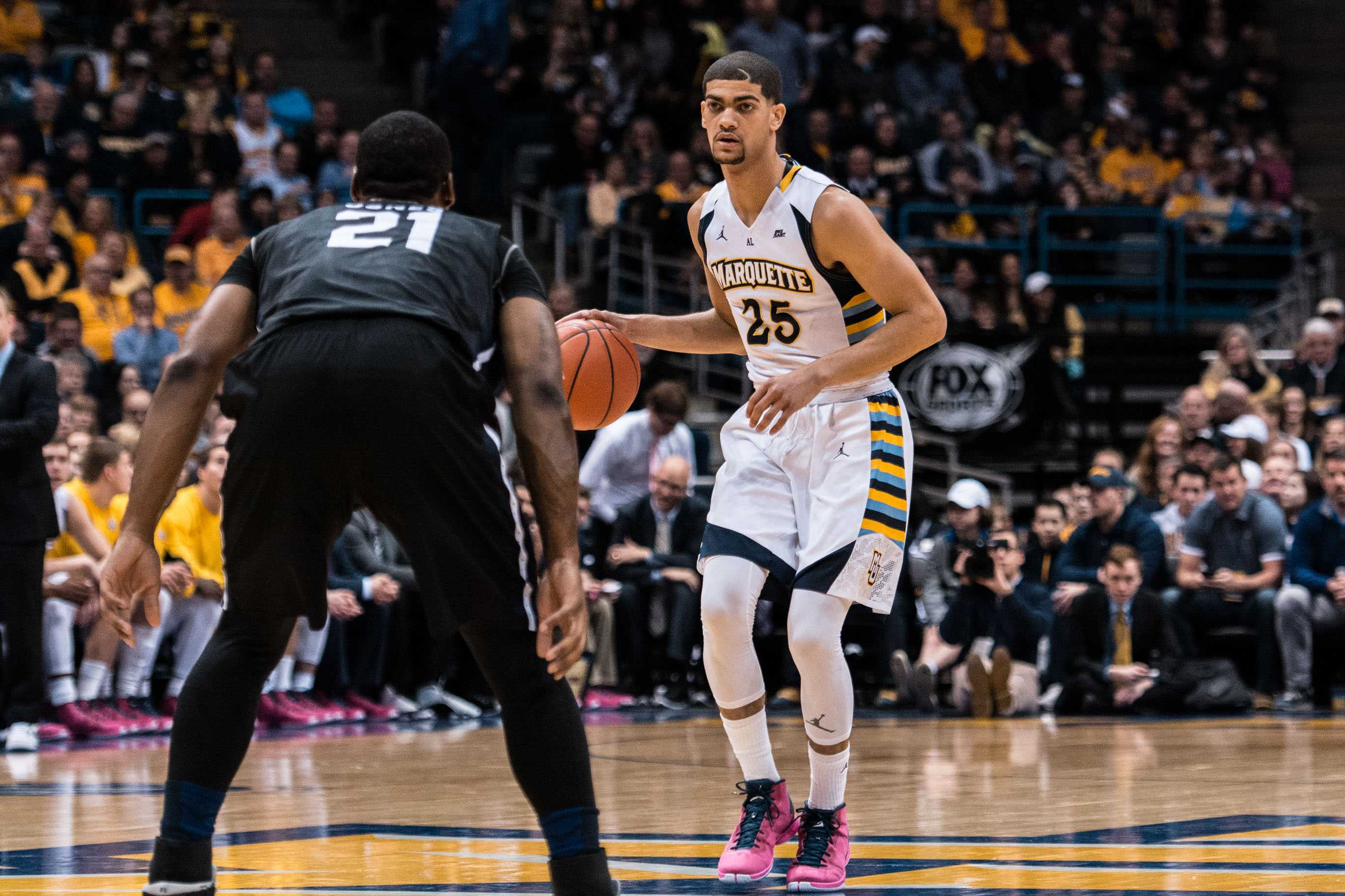 Marquette guard Haanif Cheatham will be a tough cover for the Commodores in their season opener. Photo credit: Mike Carpenter/Marquette Wire