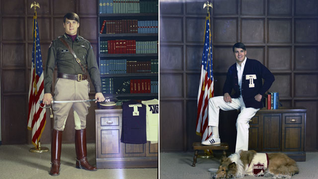 Rick Perry as a student at Texas A&M (Credit: Cushing Memorial Library and Archives)