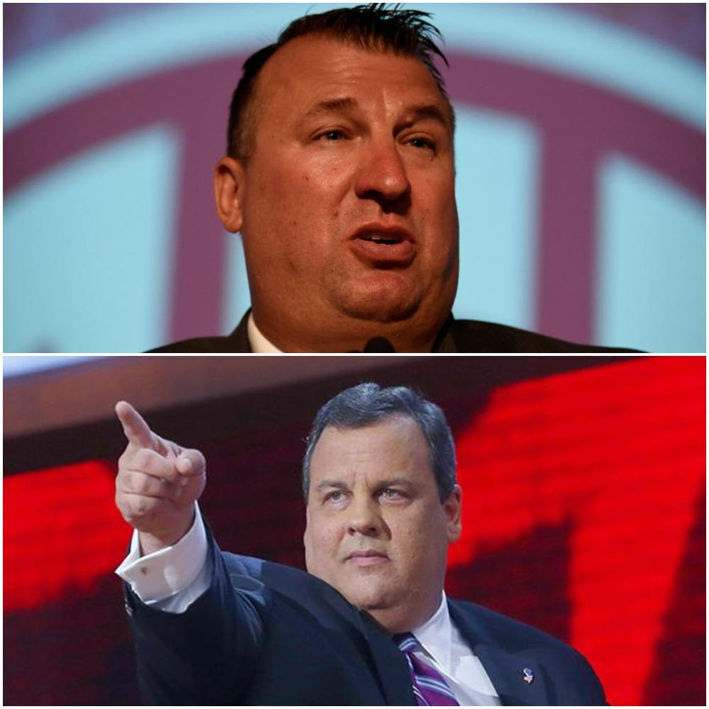 Bret Bielma (top) and Chris Christie (bottom)