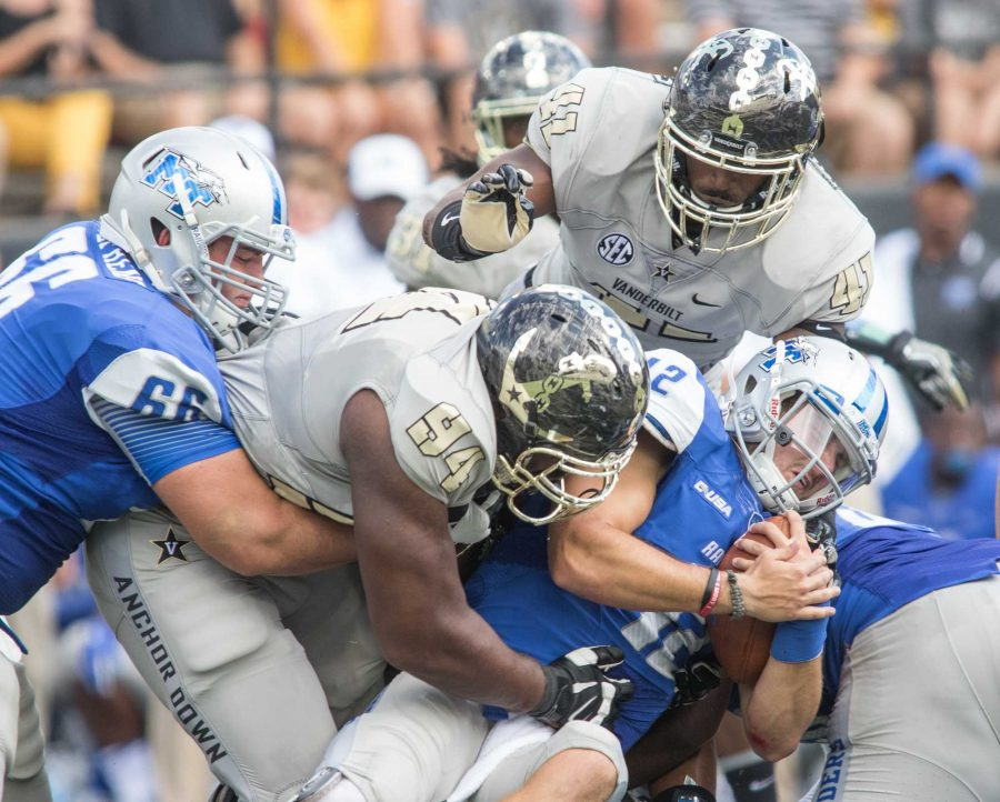 as+Vanderbilt+defeated+the+MTSU+Blue+Raiders+47-24+at+Vanderbilt+Stadium+September+10%2C+2016.