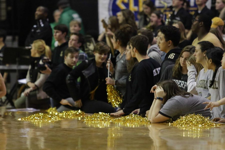 Dejected fans as Vanderbilt was stunned 71-70 against Arkansas at Memorial Gym January 24, 2017.
