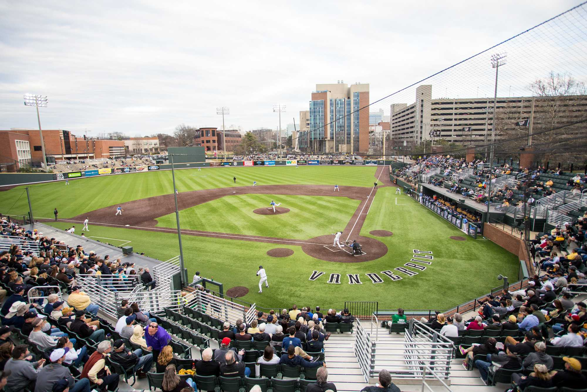 February 19, 2016: Vanderbilt's first baseball game of the season results in an 8-4 victory over San Diego at Hawkins Field.