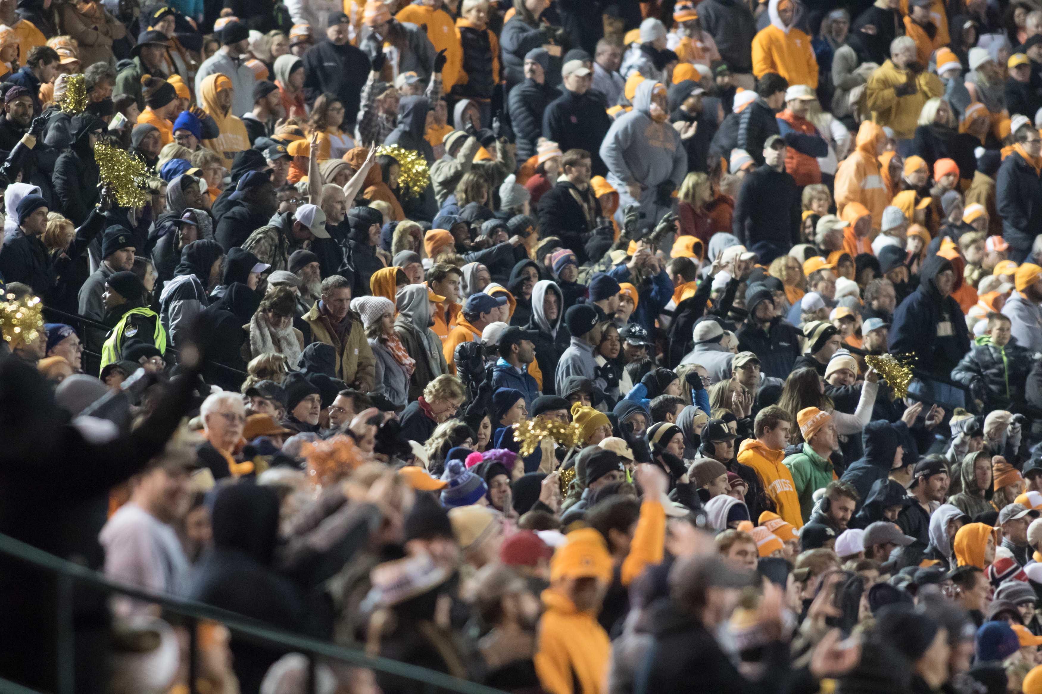 Fans as Vanderbilt beat #17 Tennessee 45-34 at Vanderbilt Stadium November 26, 2016. Photo by Ziyi Liu