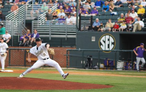 Sonny Gray (2), Vanderbilt baseball vs. LSU, April 22, 2011. Photo by Beck Friedman.