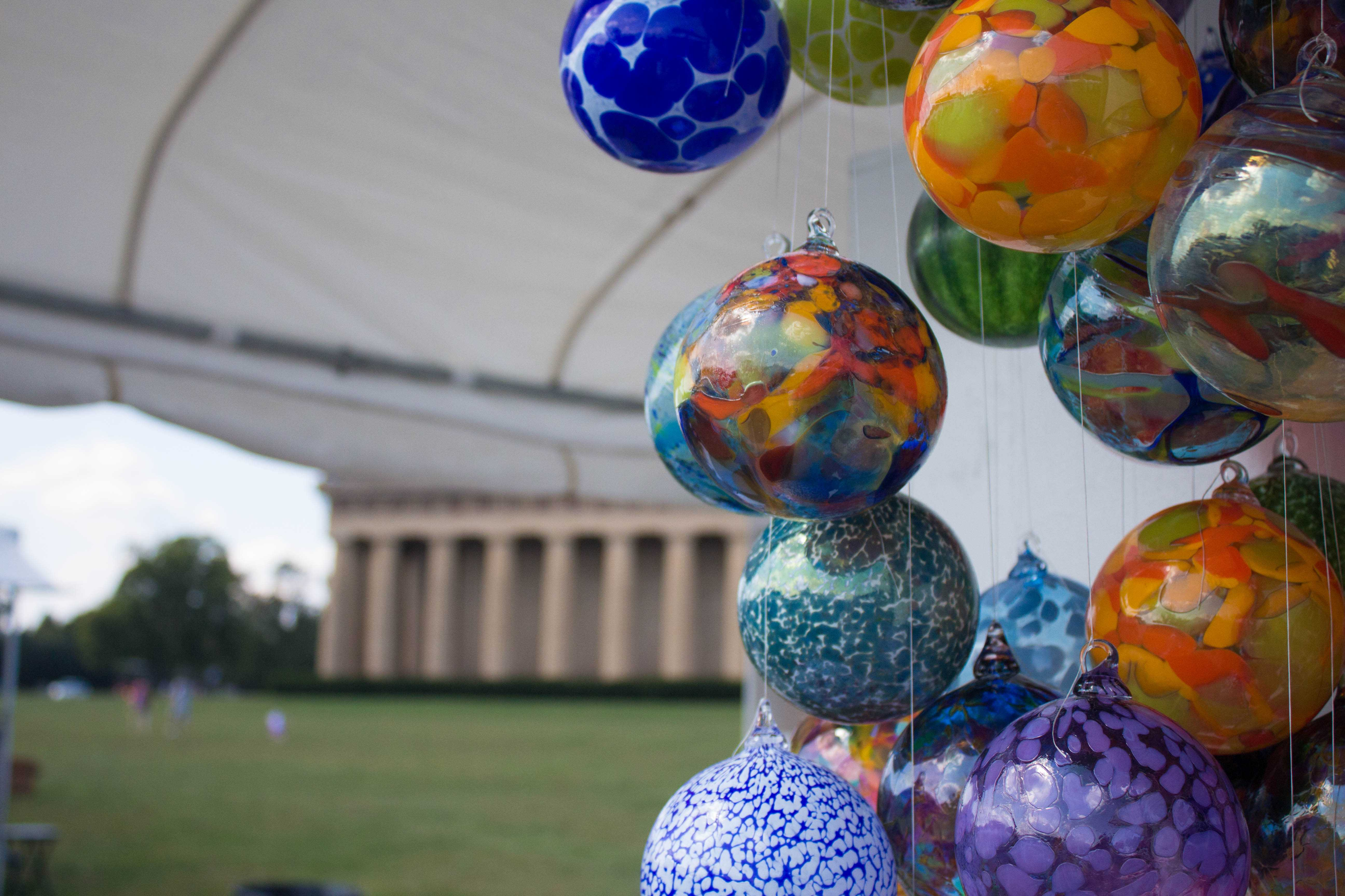 Artists display their work at the 39th Annual Fall Tennessee Craft Fair in Centennial Park on September 22, 23, and 24.