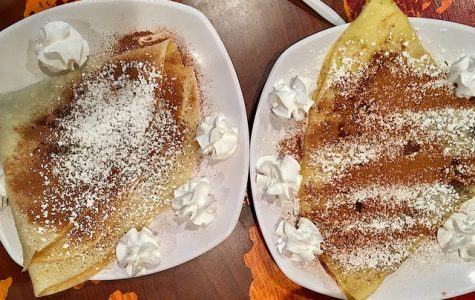 Left: Gluten-free crepe  Right: Regular crepe