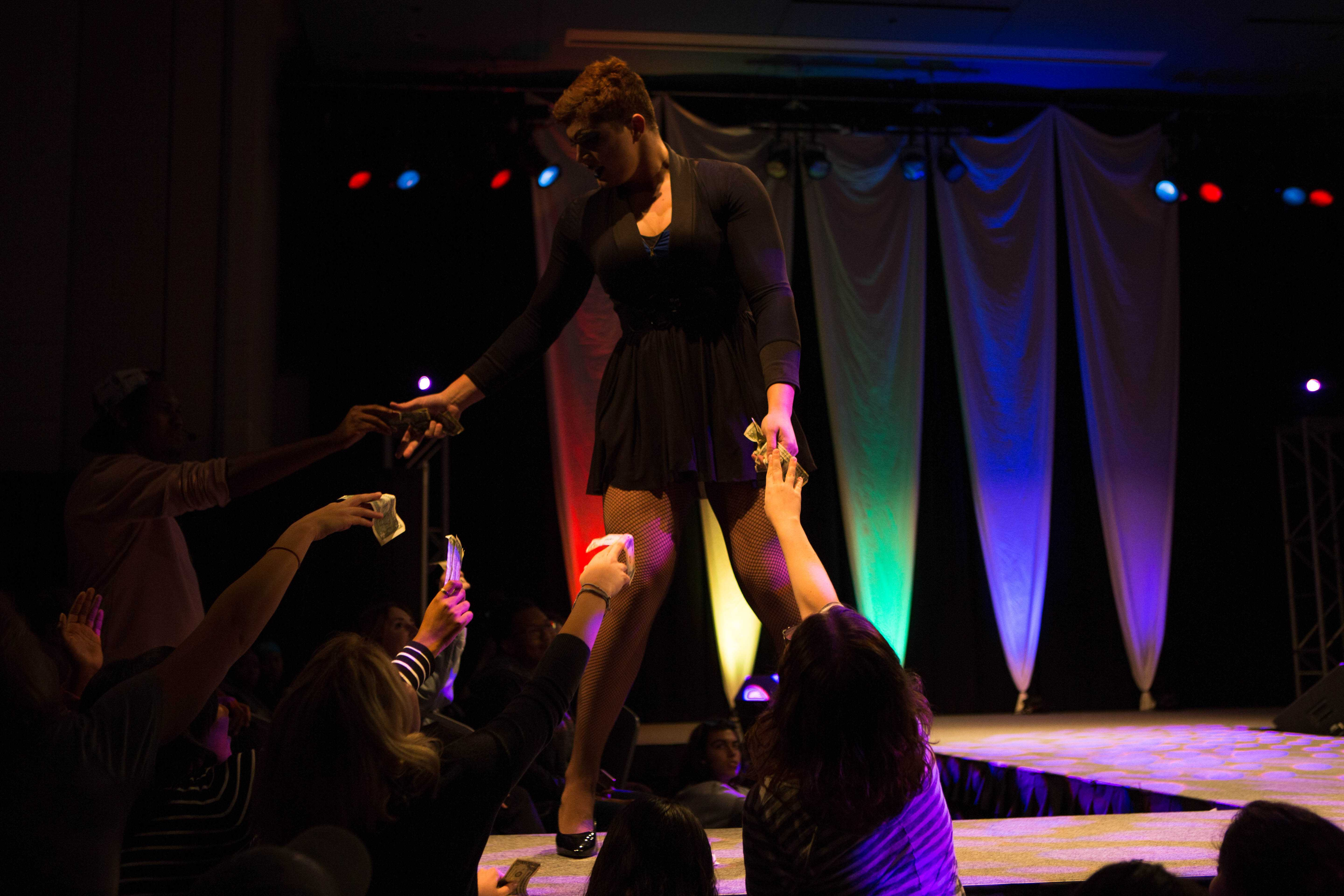 Drag Queens perform at Vanderbilt during Lambda's annual Drag Show on Wednesday, October 26, 2017