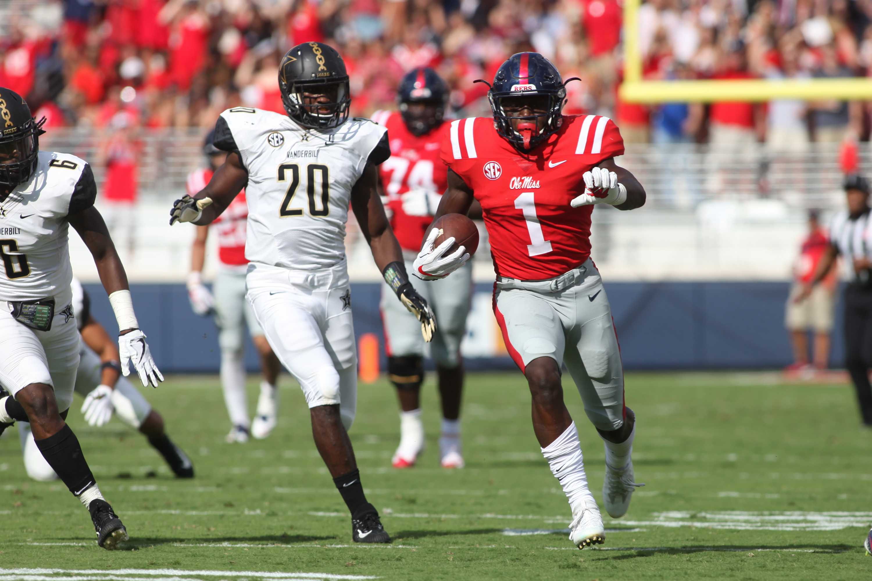 The Commodores play football at Ole Miss on Saturday, October 14, 2017.