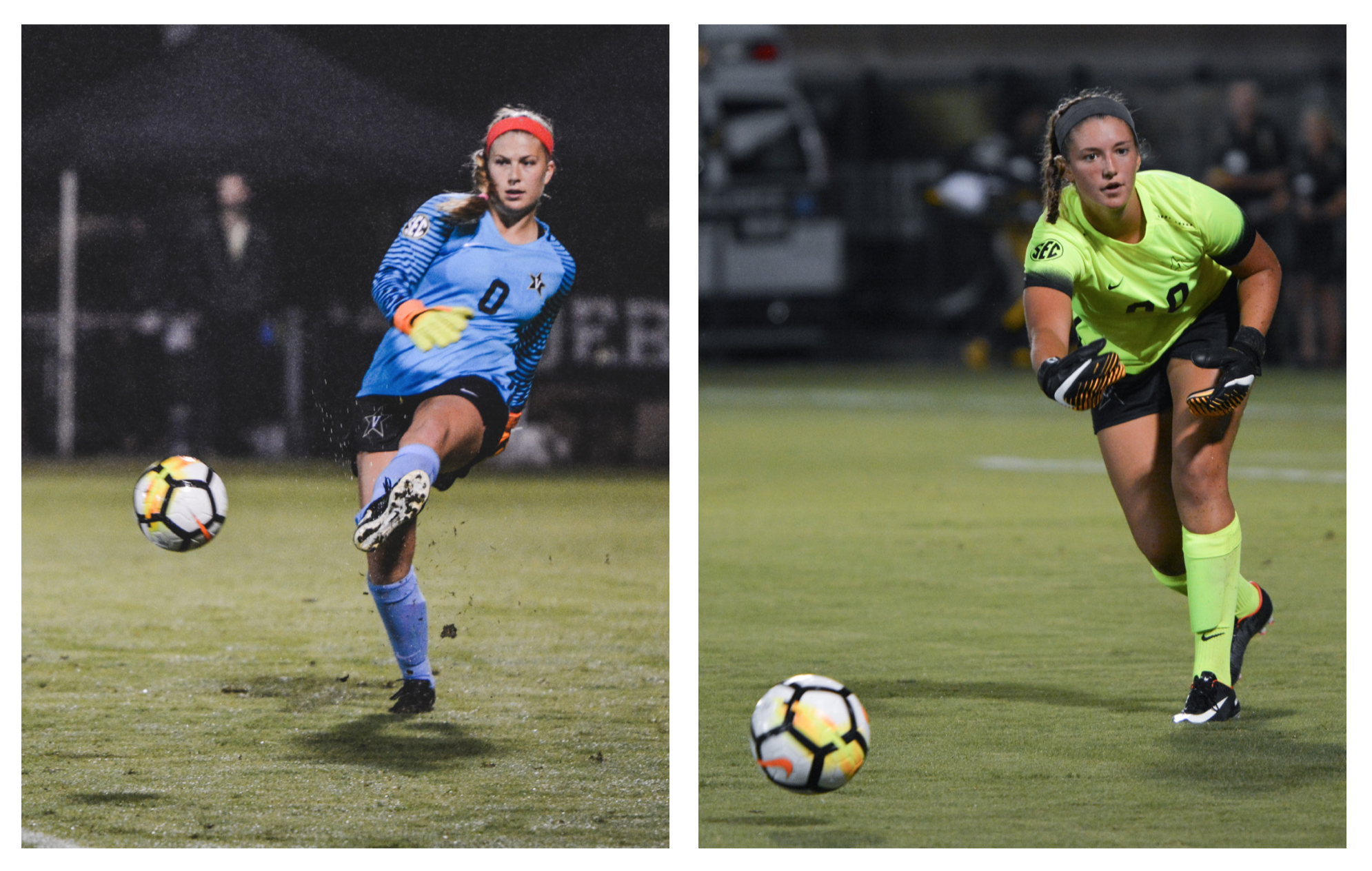 Goalkeepers Kaitlyn Fahrner and Taiana Tolleson are part of a skilled group of goalkeepers for Vanderbilt.