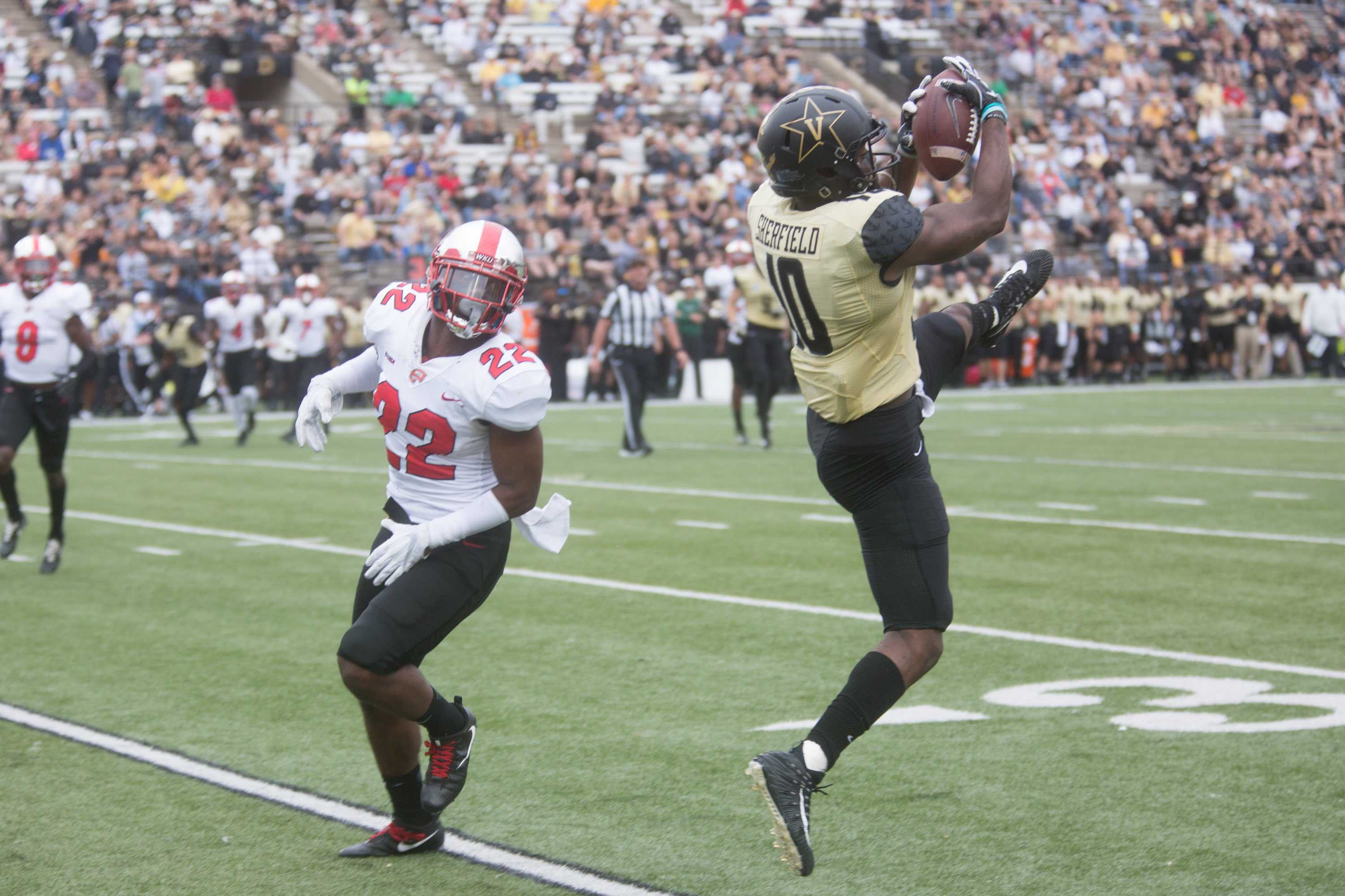 The Commodores play the WKU Hilltoppers on Saturday, November 4, 2017.