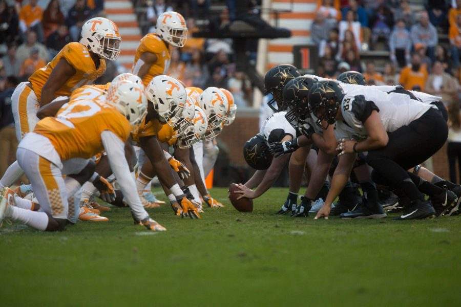 Vanderbilt plays at Tennessee on Saturday, November 25, 2017. The Commodores won 42-24. (Photo by Claire Barnett)