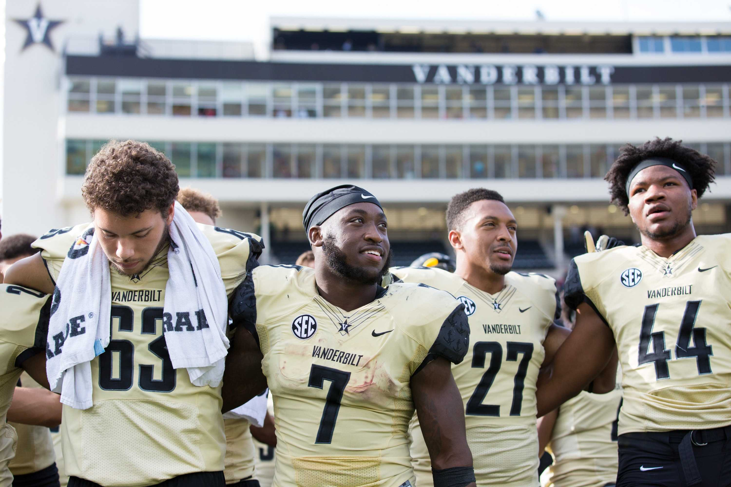 The Commodores play the WKU Hilltoppers on Saturday, November 4, 2017. Vanderbilt won 31-17.  Photo by Claire Barnett//The Vanderbilt Hustler.