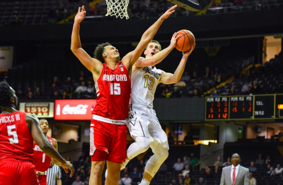 Vanderbilt gets back into win column with 74-62 victory over Radford