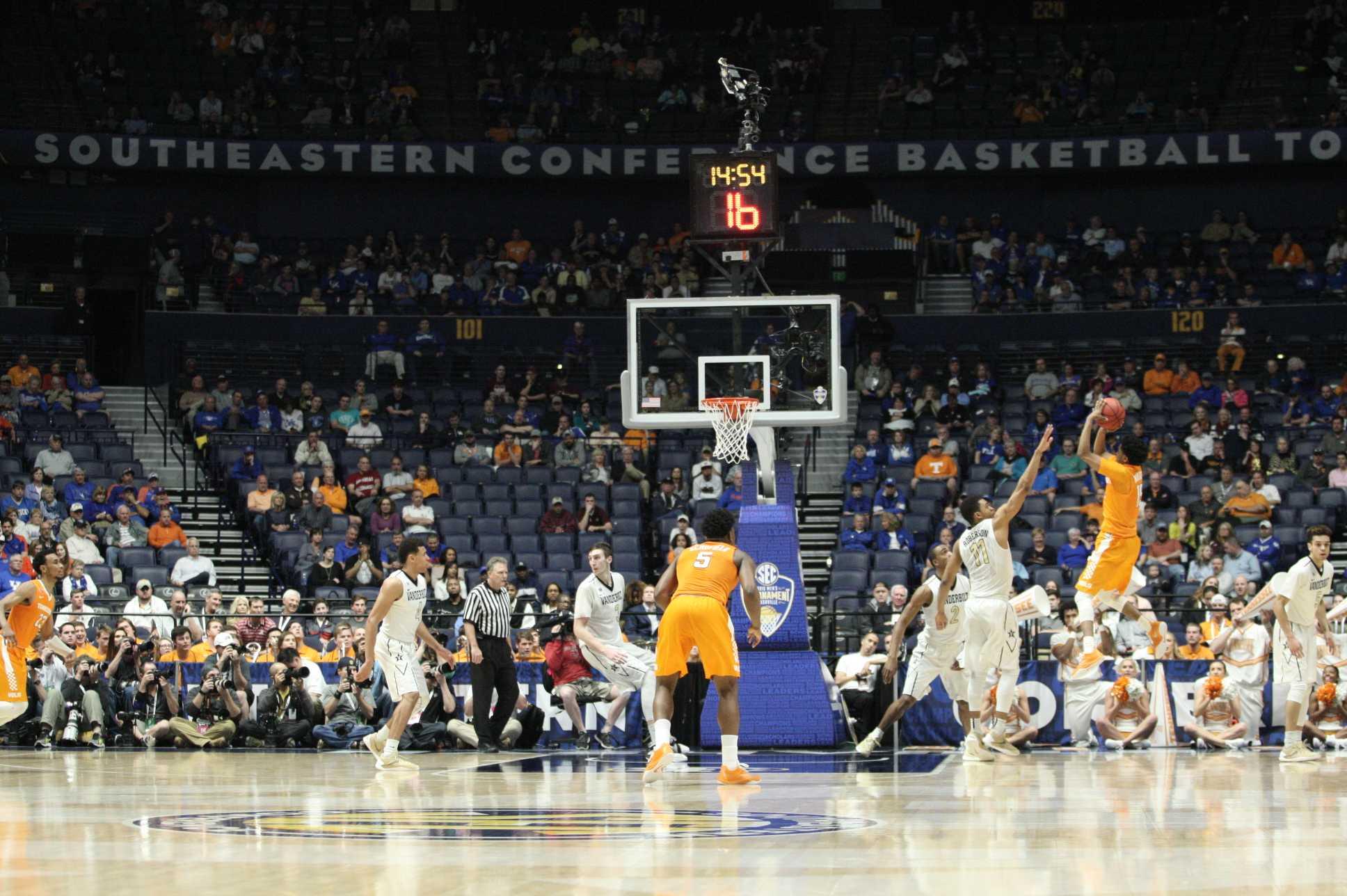 Vanderbilt lost to Tennessee 67-65 in a heartbreaker in the Second Round of the 2016 SEC Tournament at Bridgestone Arena Nashville, TN. Photo by Ziyi Liu.