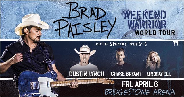 Brad+Paisley+to+take+the+Bridgestone+stage