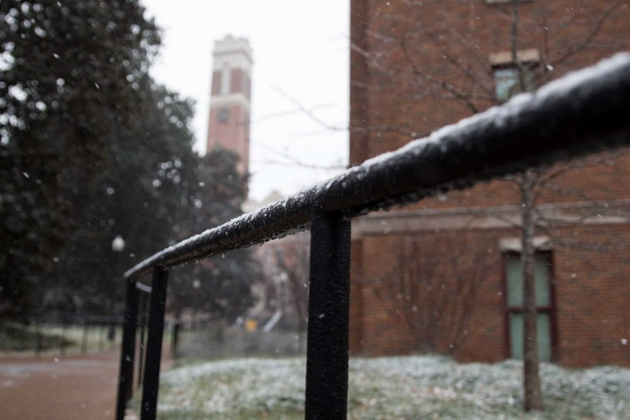 Vanderbilt cancels classes on Friday, January 12, 2018 due to inclement weather (Photo by Emily Goncalves).