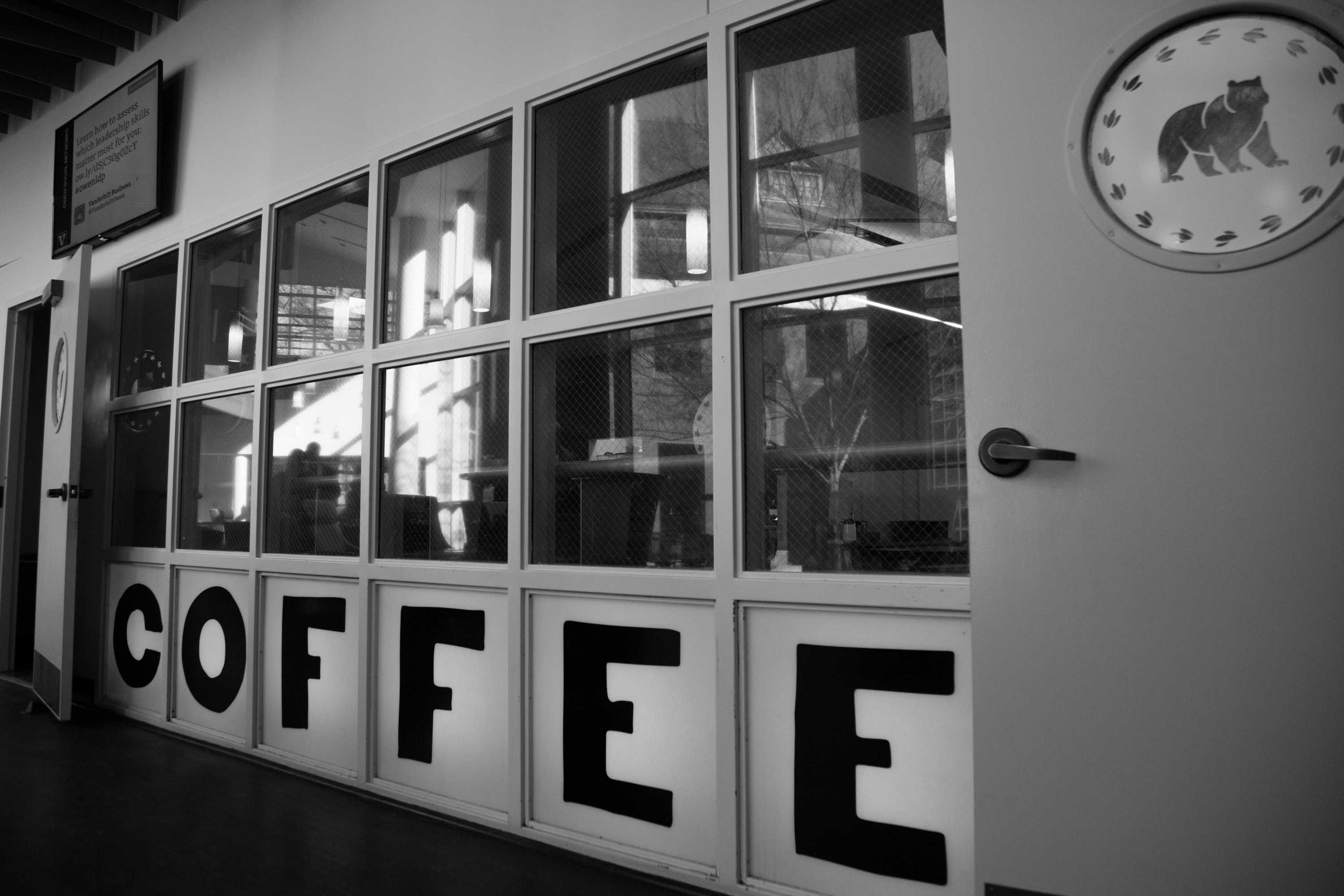 Owen's new coffee shop, taken on Friday, January 19, 2018. (Photo by Claire Barnett // The Vanderbilt Hustler)