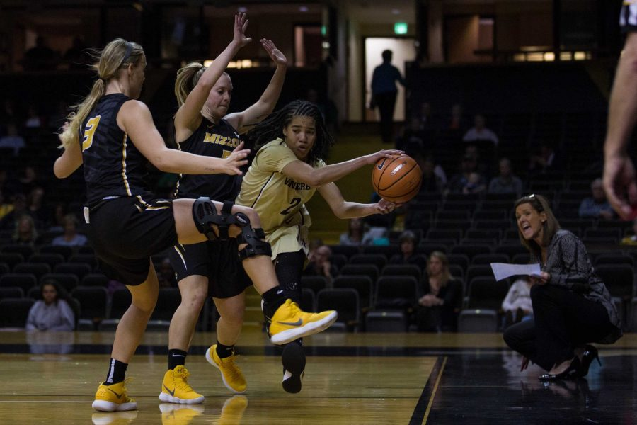 The Vanderbilt Womens Basketball Team plays Missouri in Memorial Gym on Thursday, January 11, 2018. (Photo by Claire Barnett)
