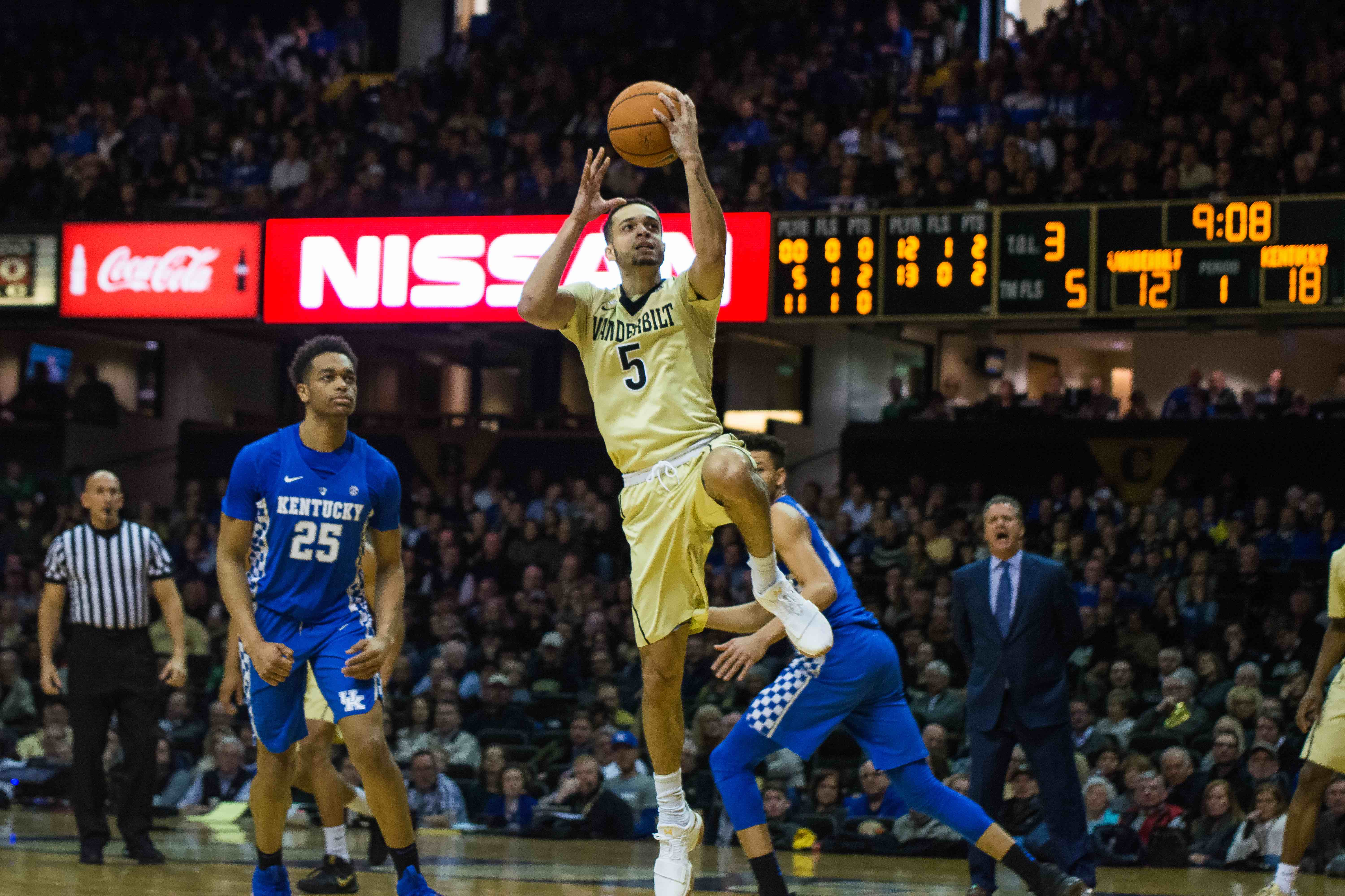 The Vanderbilt Commodores fall to the University of Kentucky Wildcats on Saturday, January 13th, 2018. (Photo by Brent Szklaruk)