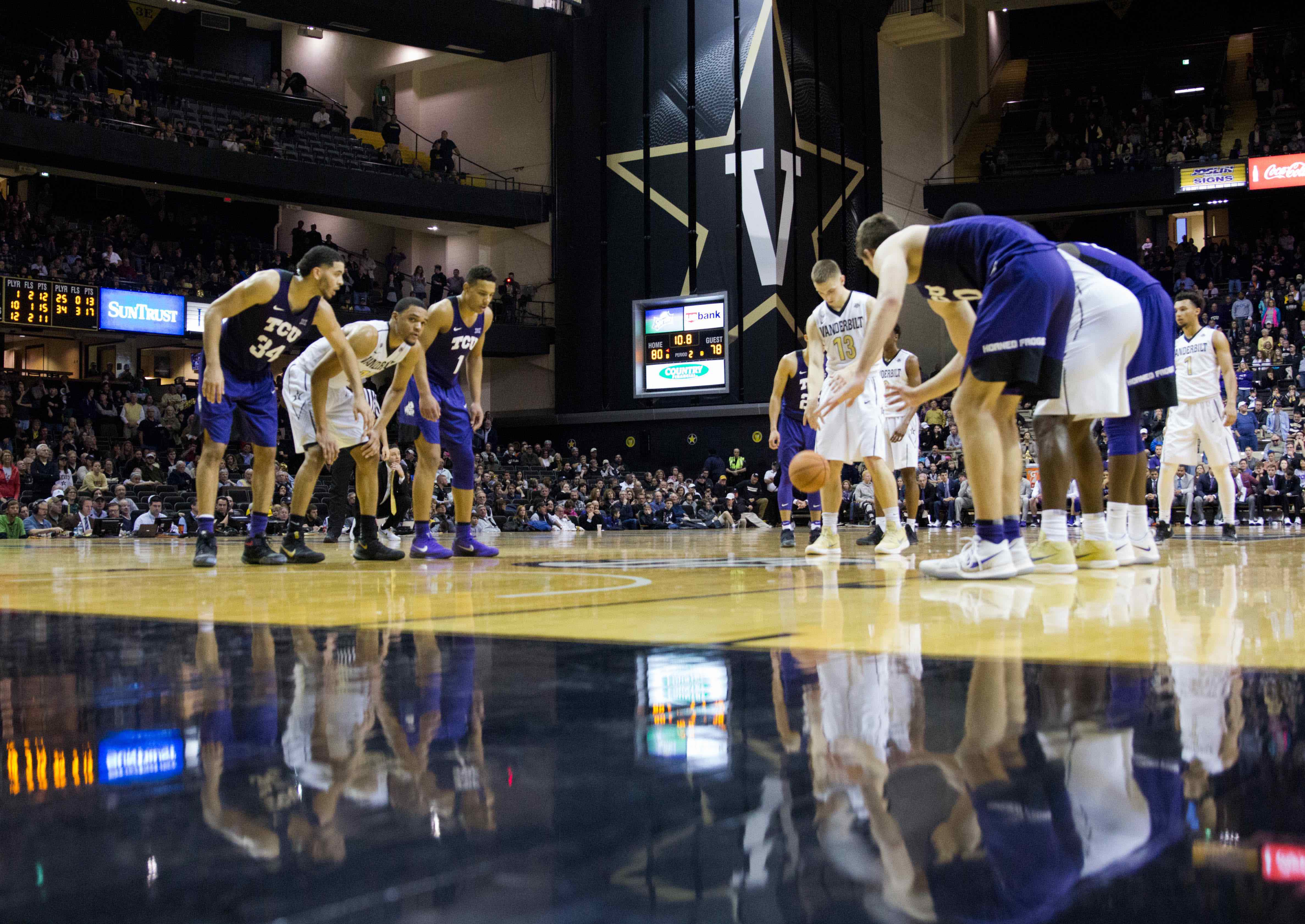 Vanderbilt men's basketball upsets TCU 81-78 on Saturday, January 27, 2018 in Memorial Gym. (Photo by Emily Goncalves)