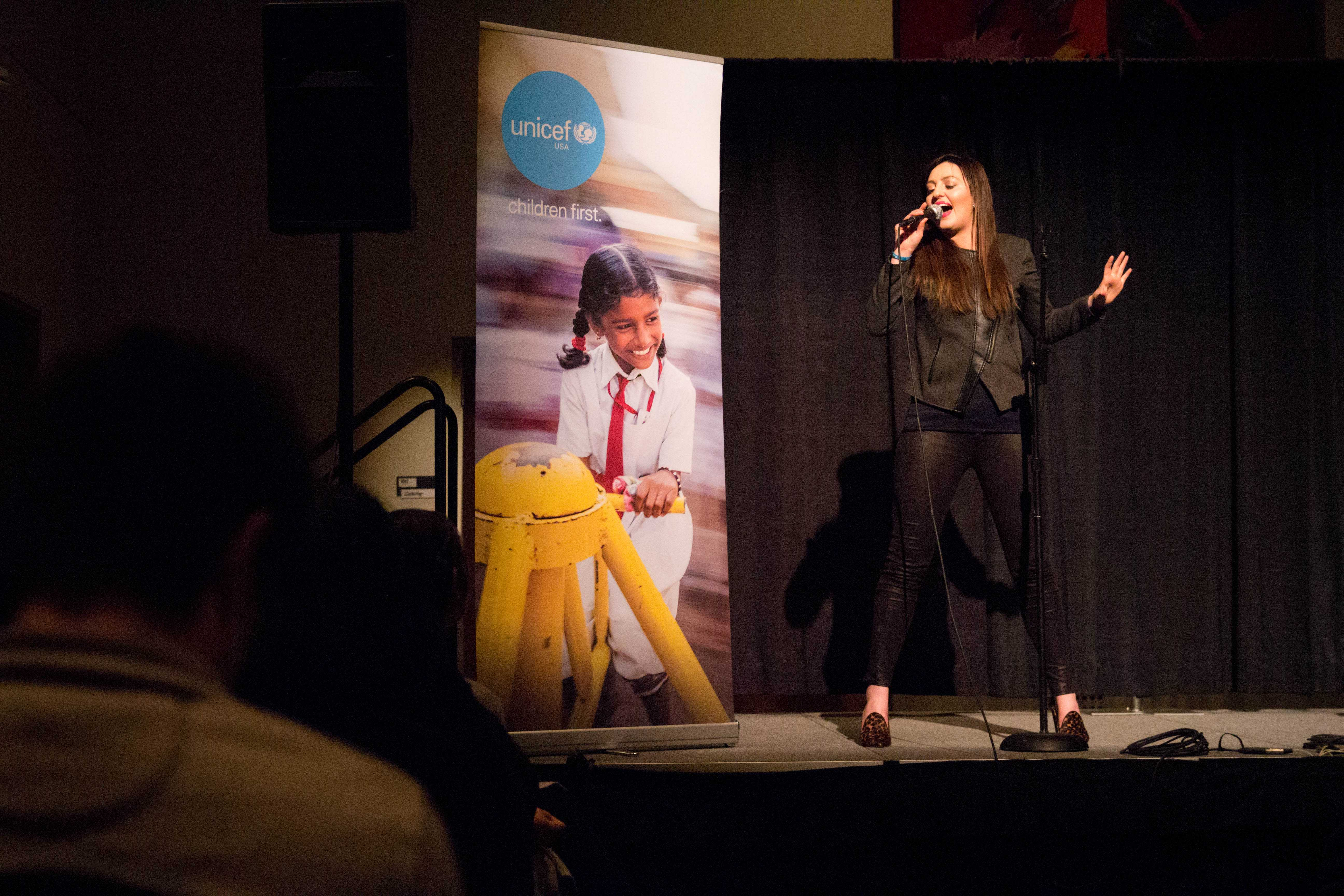 Vanderbilt UNICEF End Trafficking Week featured a performance by Megan Wilde on Friday, February 3, 2018 at the SLC. She shared a sneak peek to a new song she will be releasing that addresses the issue of human trafficking. (Photo by Emily Goncalves)