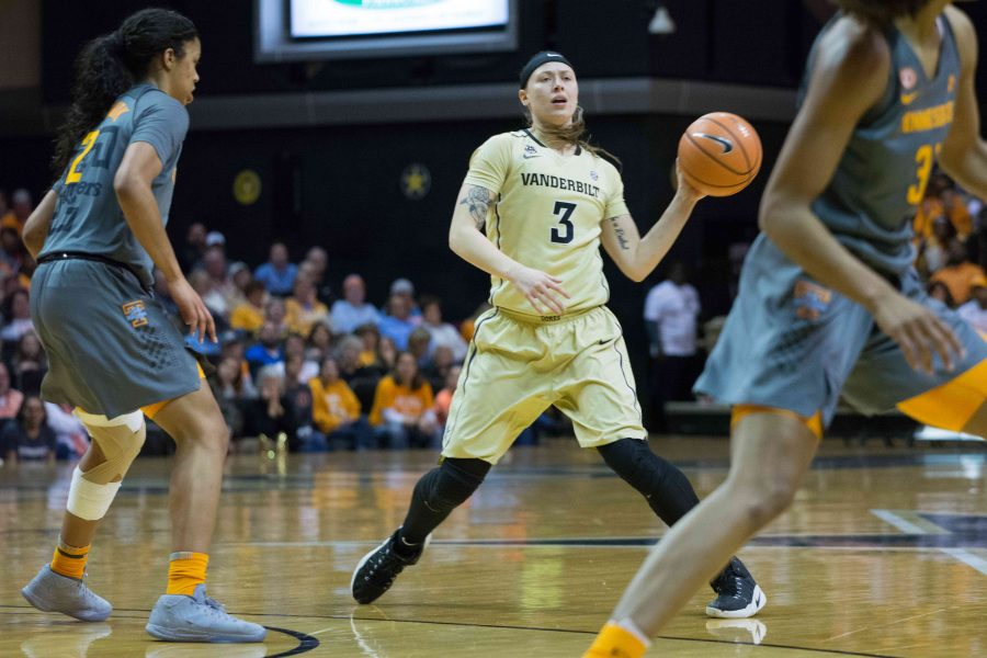 The+Vanderbilt+Commodores+Women%27s+Basketball+team+plays+Tennessee+on+Sunday%2C+February+4th%2C+2018.+Photo+by+Brent+Szklaruk