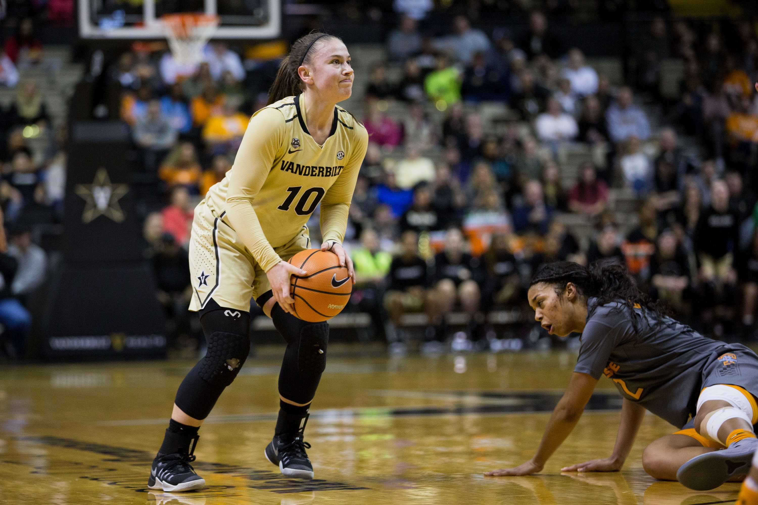 The Vanderbilt Women's Basketball team play the Lady Vols on Sunday, February 4, 2018 in Memorial Gym. (Photo by Claire Barnett)