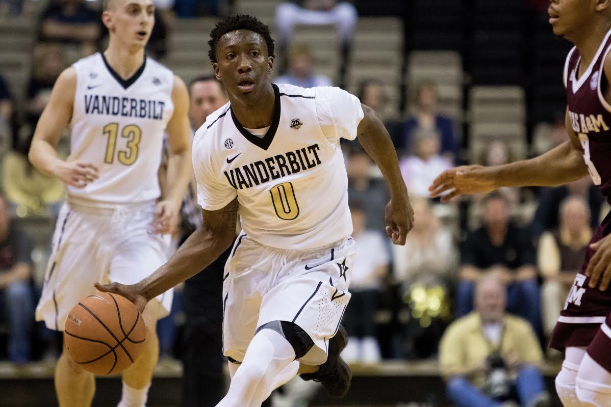 Vanderbilt Men's Basketball loses to Texas A&M 89-81 February 24, 2018.