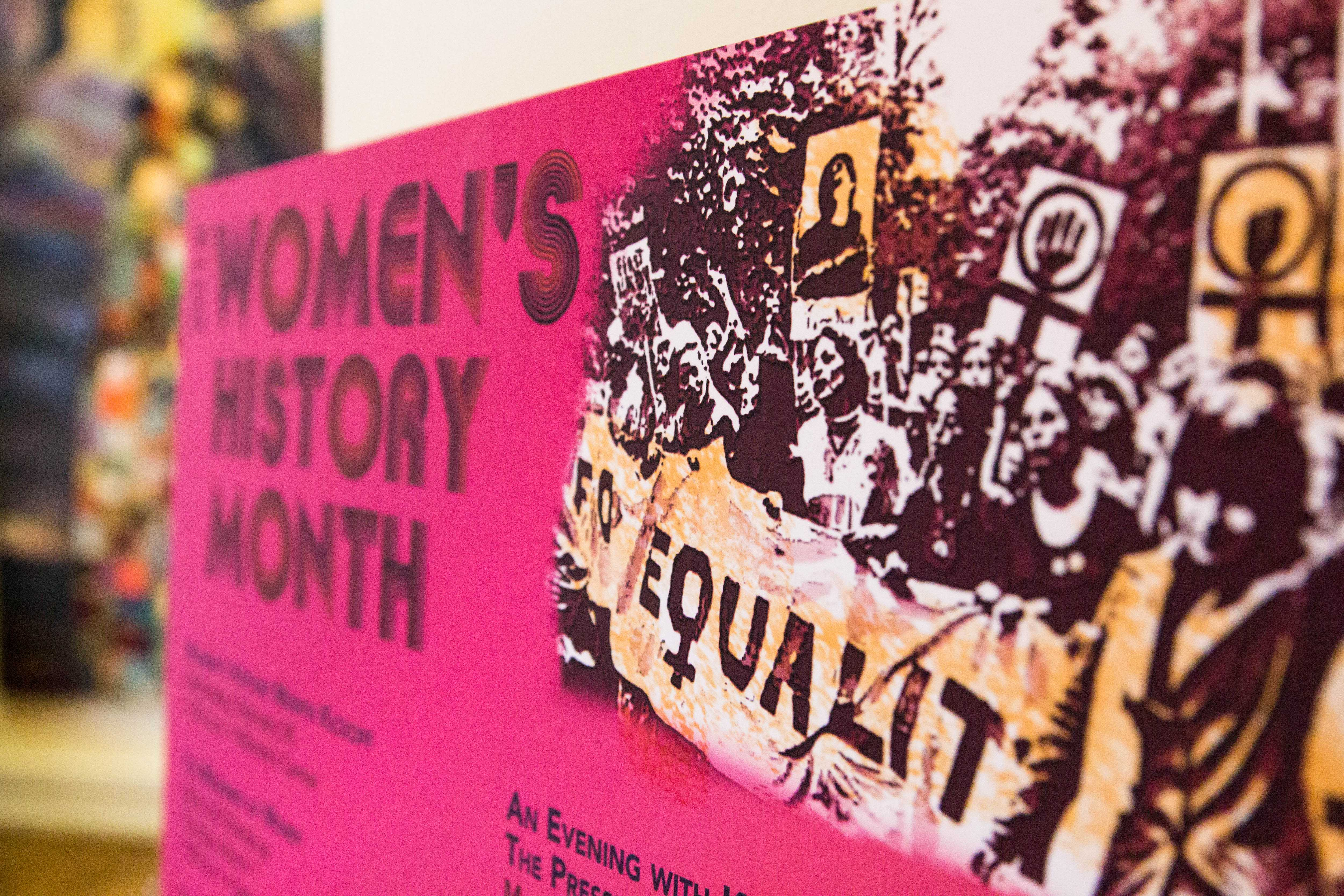 The Margaret Cuninggim Women's Center hosts the Women's History Month Kickoff on Wednesday, February 28, 2018. The kickoff discussed the schedule for upcoming events and featured food, music, and raffles. (Photo by Emily Gonçalves)
