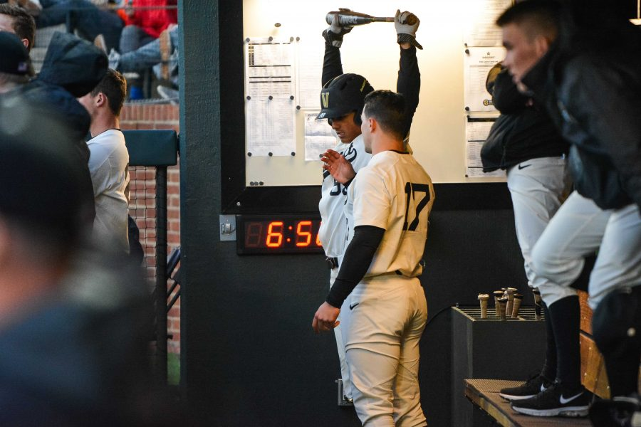 The+Vanderbilt+baseball+team+plays+Eastern+Kentucky+on+Wednesday%2C+March+14th%2C+2018.+%28Photo+by+Brent+Szklaruk%29