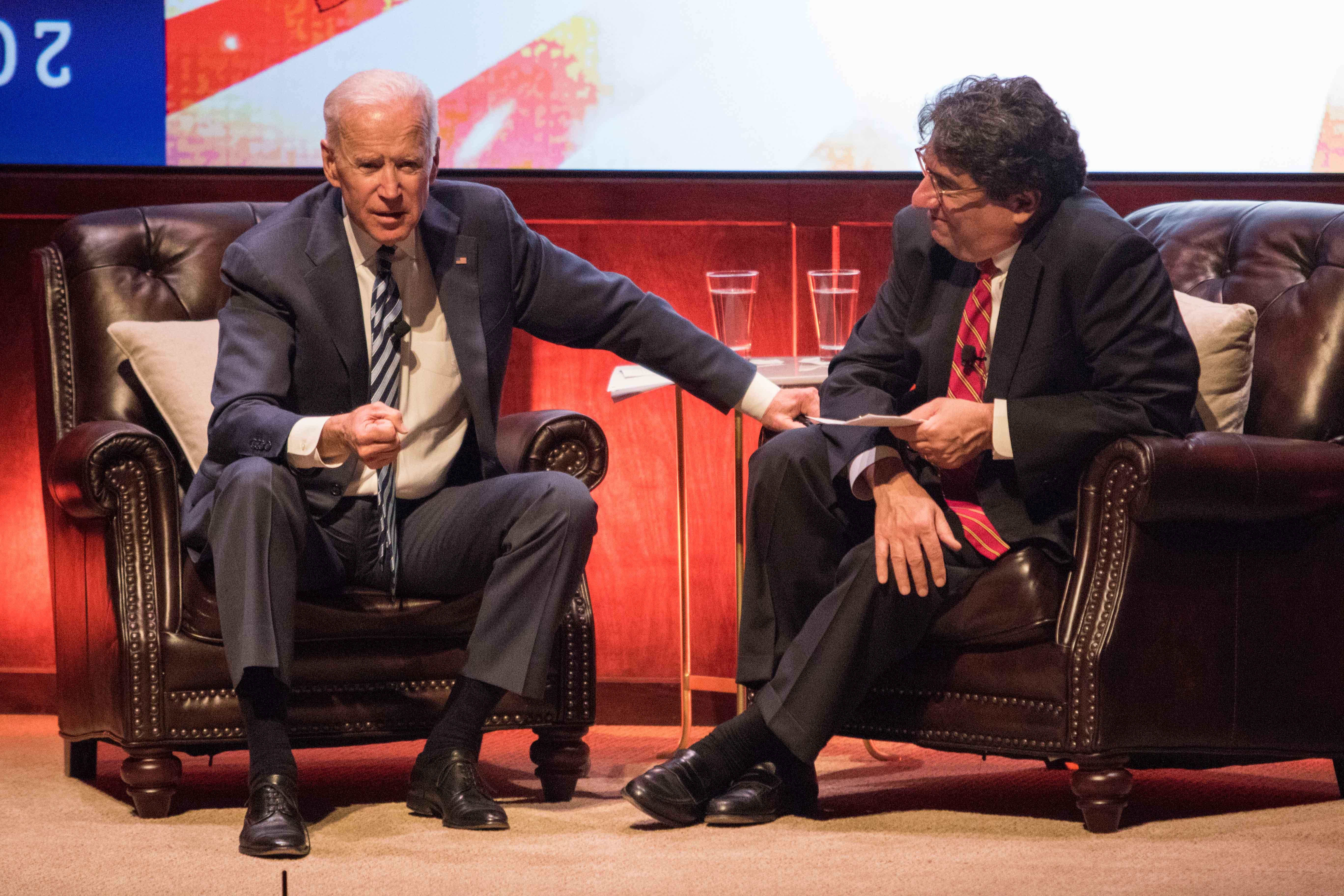 Joe Biden speaks at Vanderbilt April 10, 2018.