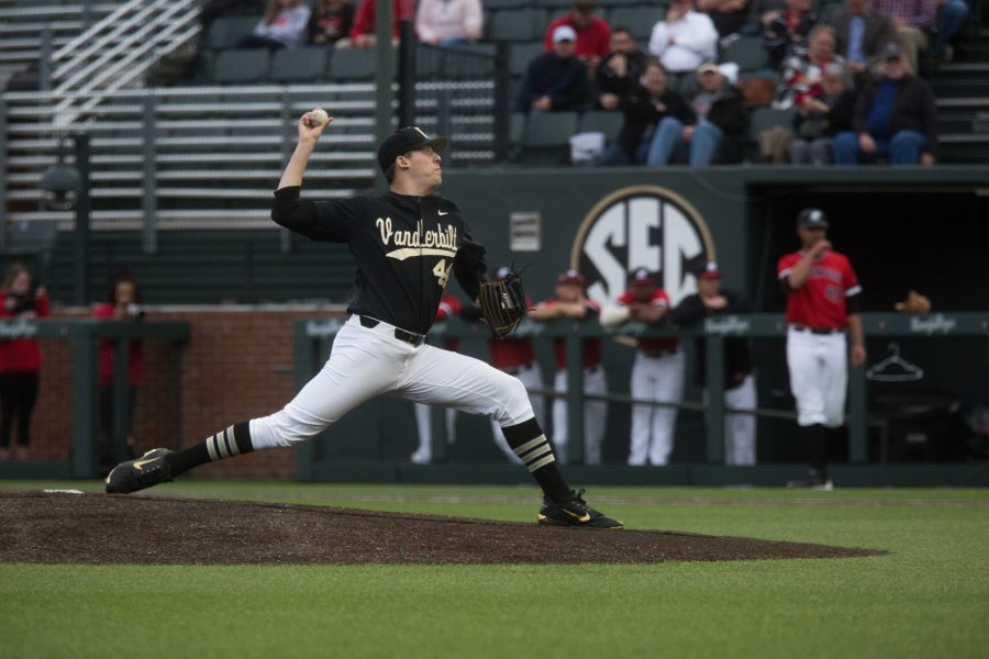 The+Vanderbilt+baseball+team+plays+Austin+Peay+State+University+on+Tuesday%2C+February+27%2C+2018.+The+Vandy+Boys+were+victorious.+%28Photo+by+Claire+Barnett%29
