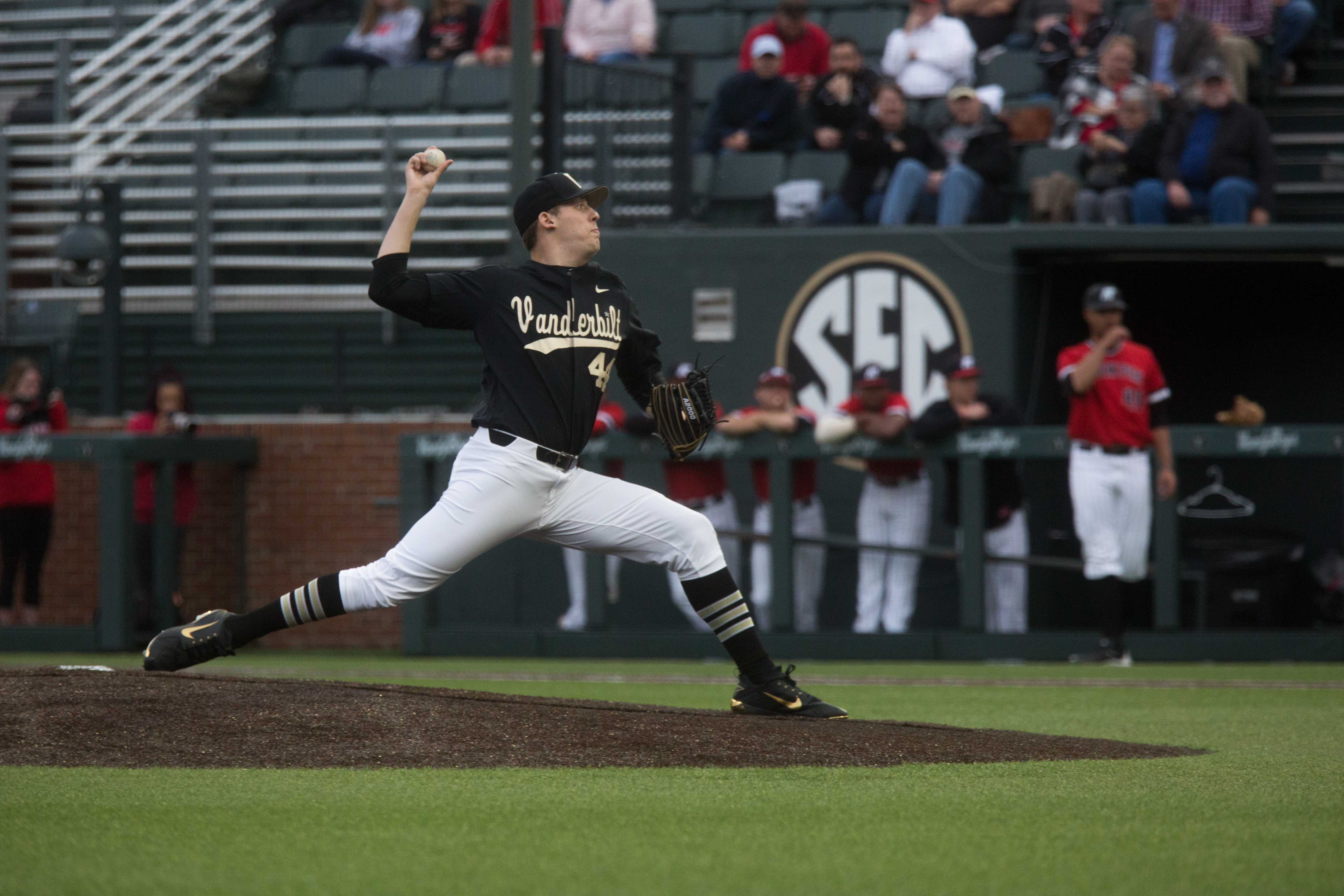 The Vanderbilt baseball team plays Austin Peay State University on Tuesday, February 27, 2018. The Vandy Boys were victorious. (Photo by Claire Barnett)