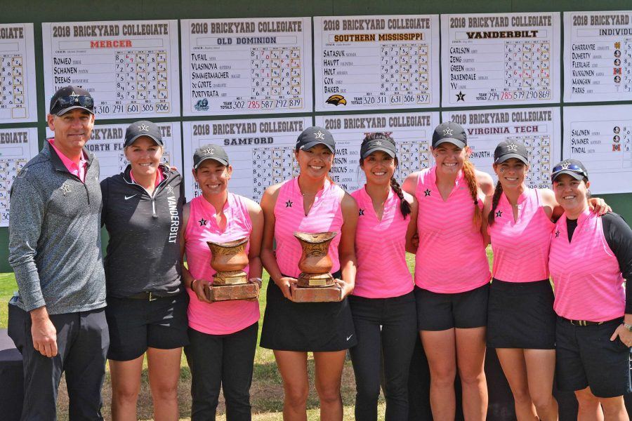 The Vanderbilt Women's Golf team won the Brickyard Collegiate last weekend (Photo via Vanderbilt Athletics)