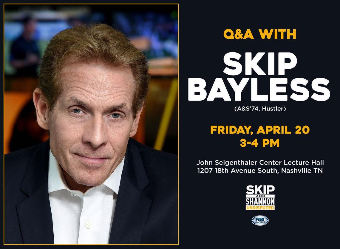 Skip Bayless to speak at Vanderbilt on April 20
