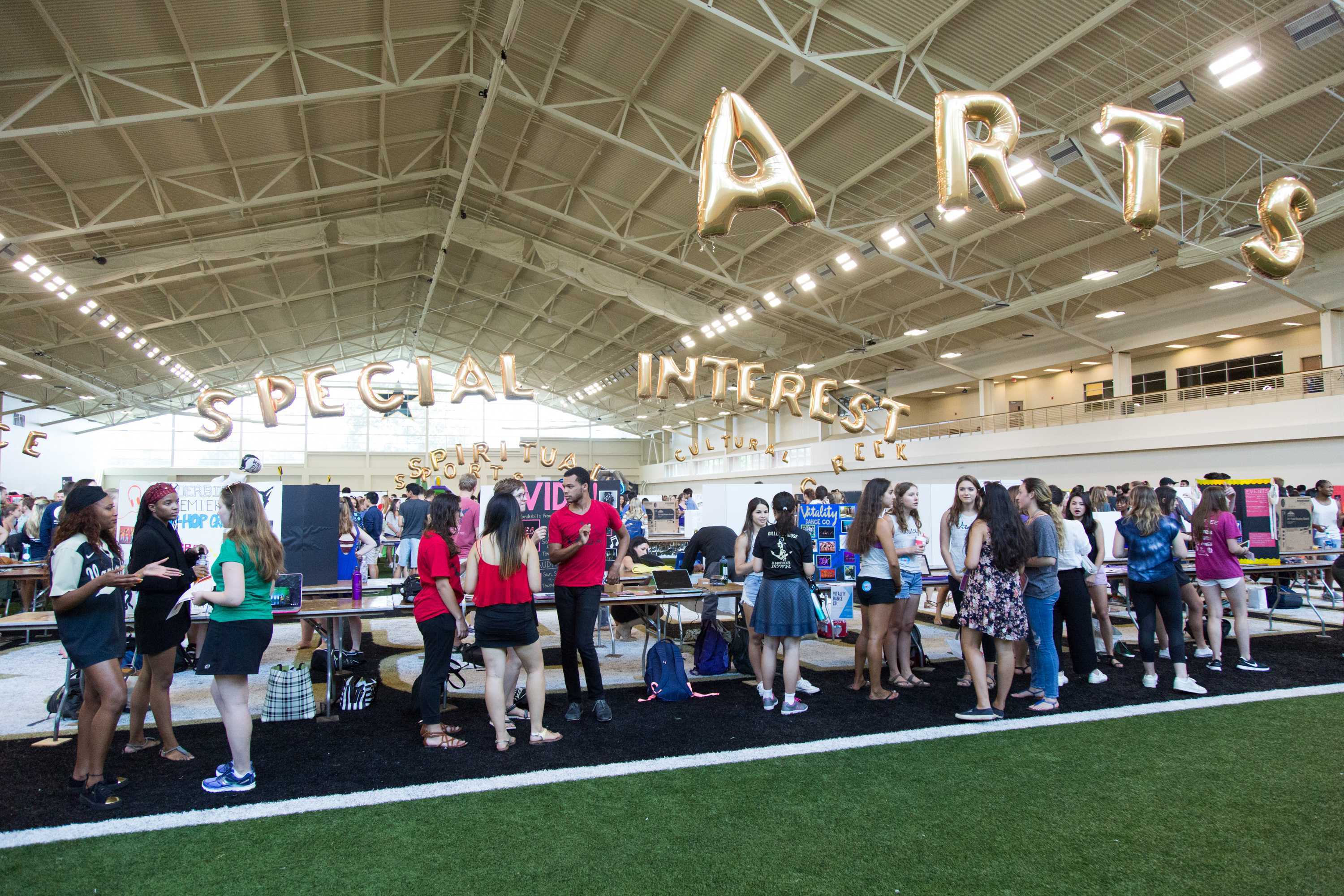Hundreds of Vanderbilt organizations recruit new members at the Student Involvement Fair on August 25, 2017.