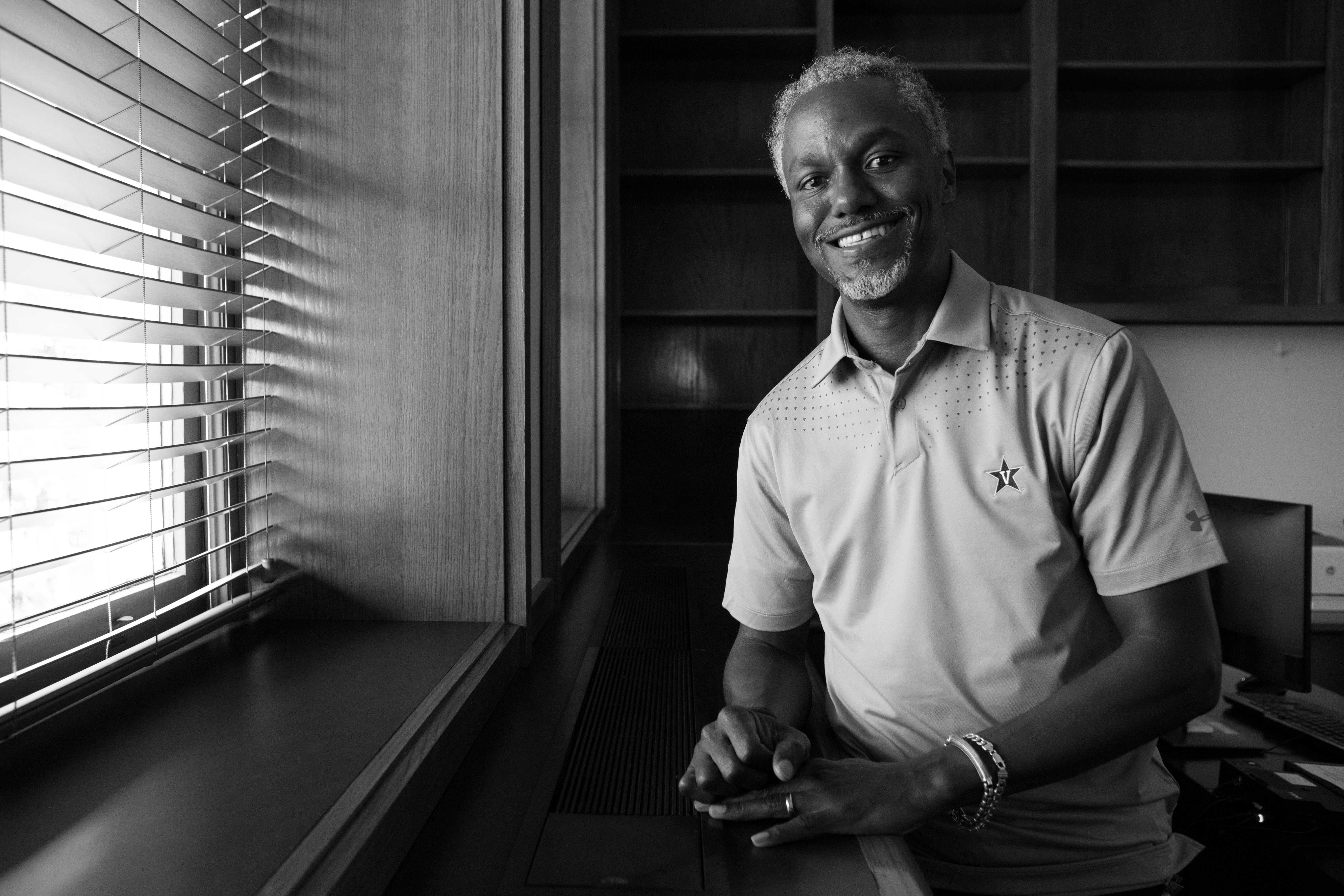 Interview with the Vice Chancellor of Equity, Diversity & Inclusion on his first day at Vanderbilt - Friday, August 17, 2018. (Photo by Claire Barnett)