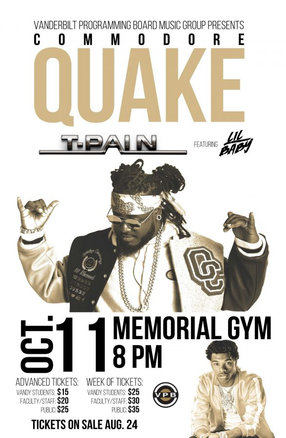 T-Pain and Lil Baby to headline Commodore Quake 2018