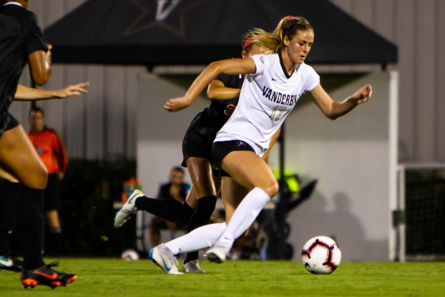 Vanderbilt Soccer plays against Western Kentucky Thursday, September 6th, 2018.