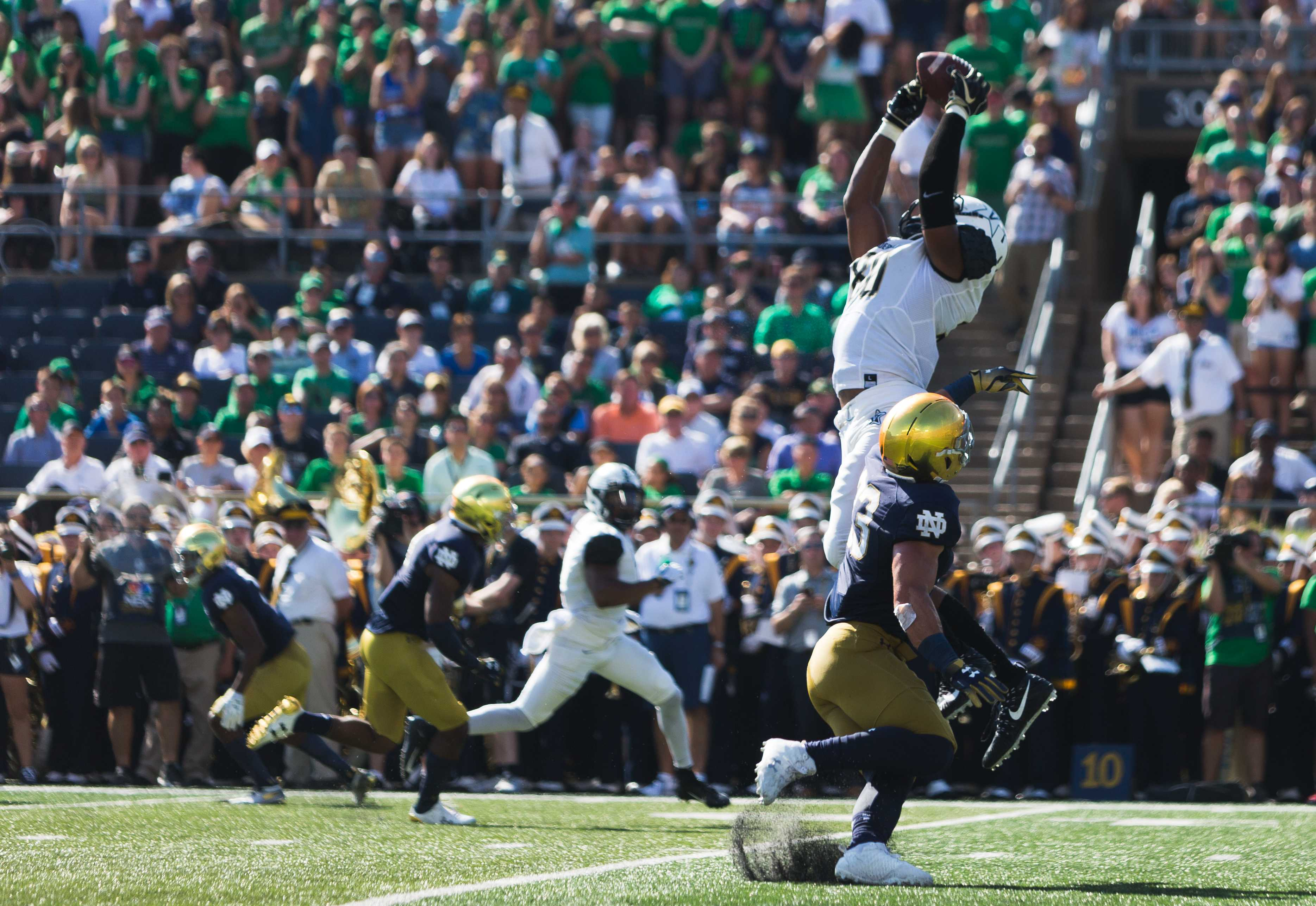Vanderbilt Commodores at Notre Dame Fighting Irish, September 15, 2018. Photo by Hunter Long/Vanderbilt Hustler