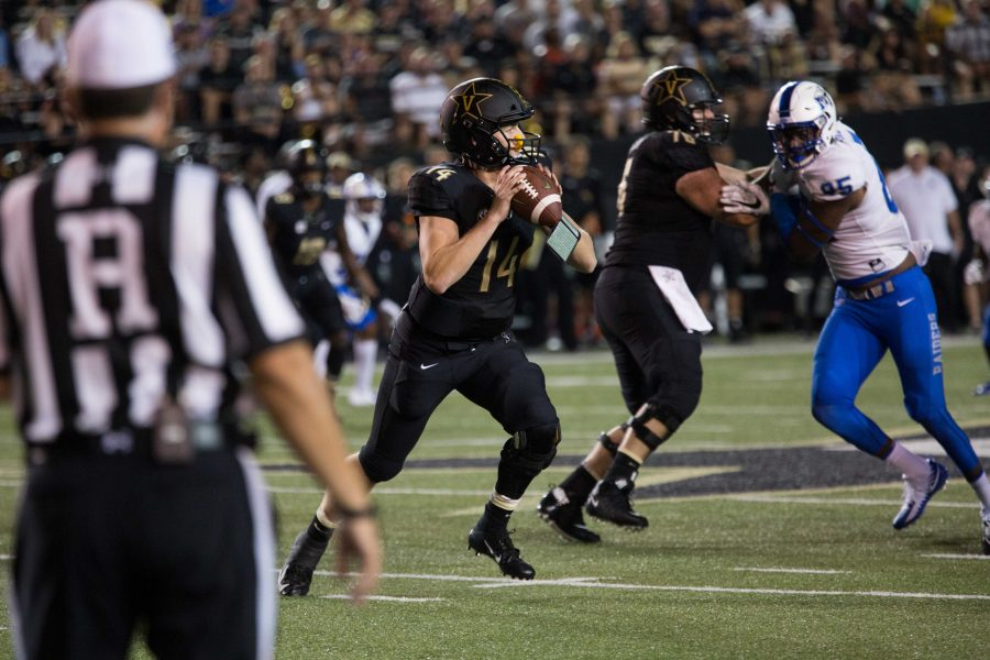 Vanderbilt+defeats+MTSU+in+football%2C+7-35%2C+on+Saturday%2C+September+1%2C+2018.+%28Photo+by+Claire+Barnett%29