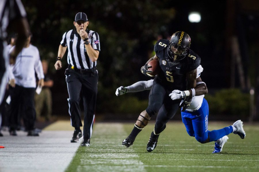 Vanderbilt plays Middle Tennessee State in Football on Saturday, September 1, 2018. (Photo by Hunter Long)