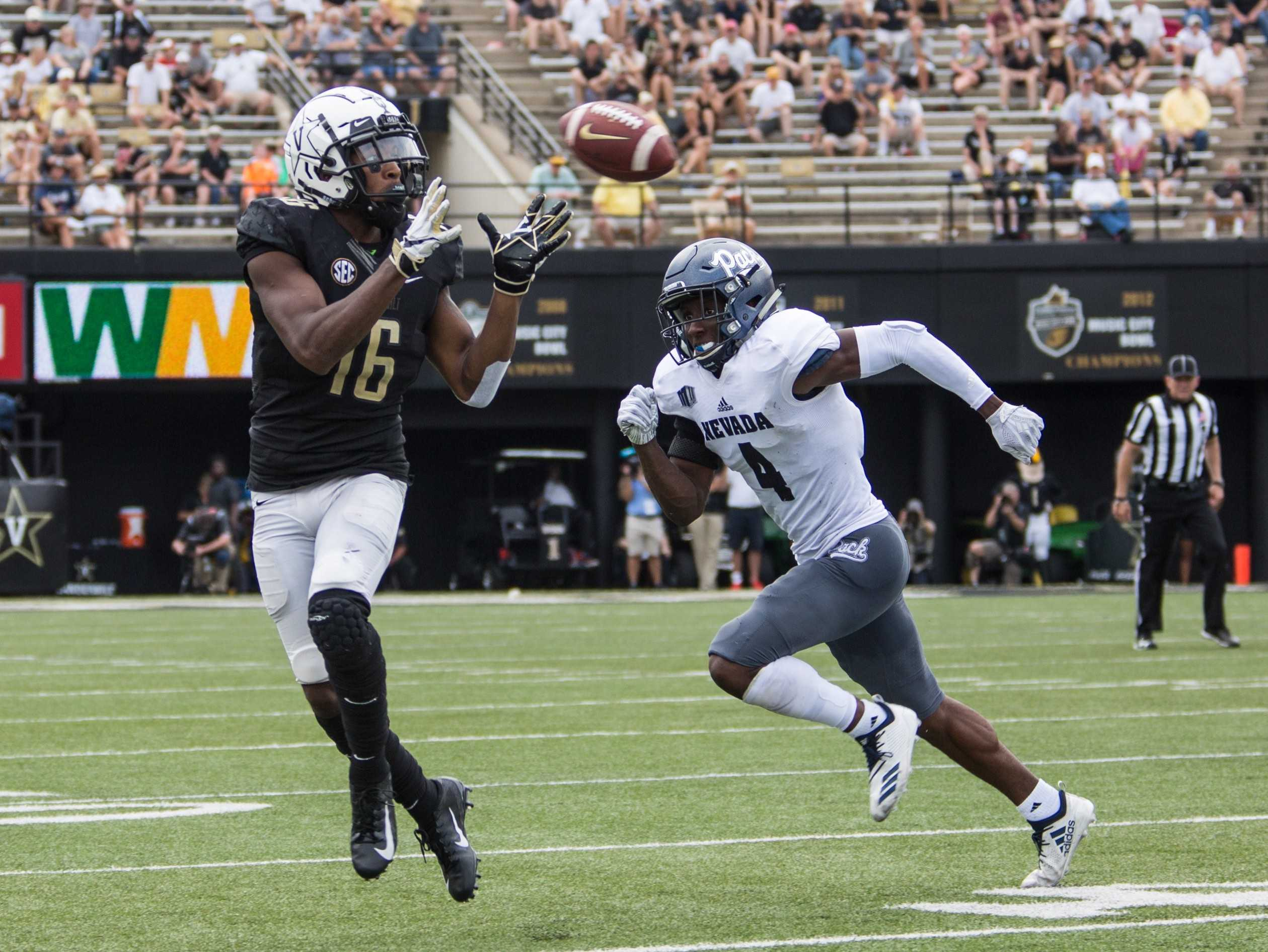 The Commodores defeat Nevada on Saturday, September 8, 2018. (Photo by Claire Barnett)